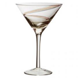 Arc Coloured Swirl Cocktail Glass