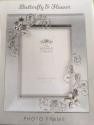 Butterfly and Flower Photo Frame 5x7