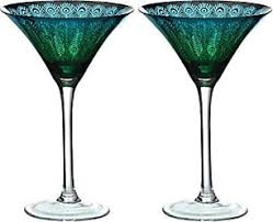 Peacock Martini (Pair)