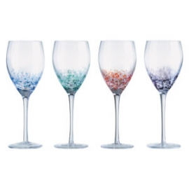 Speckle Wine Glass