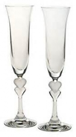 Frosted Heart Flute (Pair)